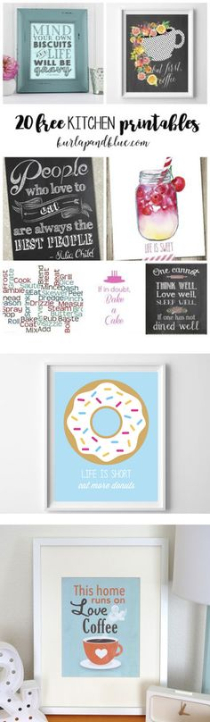 Wall Art {For the Kitchen} 20 free kitchen printables! update your kitchen with free printable free kitchen printables! update your kitchen with free printable art! Free Printable Art, Free Printables, Printable Lables, Diy And Crafts, Paper Crafts, Kitchen Wall Art, Free Prints, Bunt, Decoration