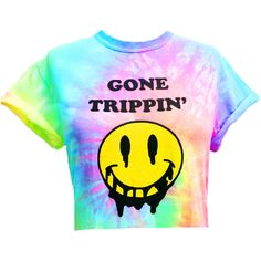 Gone Trippin' Pastel Tie Dyed Crop Top ($20) ❤ liked on Polyvore featuring tops, t-shirts, crop top, shirts, tie dye, tie dye crop top, tie dyed t shirts, unisex t shirts, tee-shirt and rainbow shirt