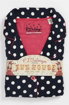 PJ Salvage Print Flannel Pajamas | Nordstrom