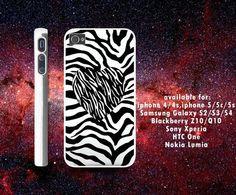 zebra pattern heart iPhone 4/4S case iPhone 5 case Samsung Galaxy S3 case Samsung Galaxy S4 case from descaCase on Wanelo