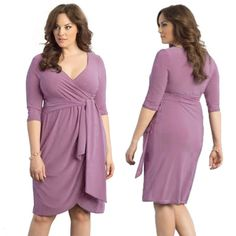 WOMEN'S DEEP V DESIGN NECK AUTUMN SPRING PLUS SIZE CASUAL SOLID COLOR STRAIGHT LONG SLEEVE MIDI DRESSES