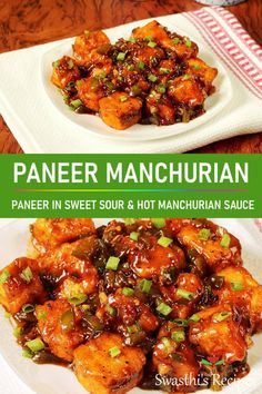 If you love Chinese foods then don't miss this paneer manchurian It is a popular appetizer from the Indian-Chinese cuisine made with paneer aka cottage cheese. The sauce is so delicious and flavorful. Indo Chinese Recipes, Indian Food Recipes, Asian Recipes, Beef Recipes, Vegetarian Recipes, Cooking Recipes, Healthy Recipes, Chinese Desserts, Healthy Indian Snacks