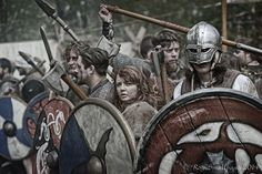 LARP and Shenanigans - Another picture of the shieldwall, holding firm...