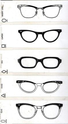 optometrist's test styles