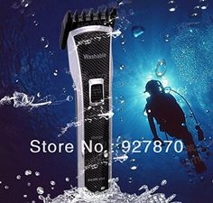 Waterproof Adjustable Mens Rechargeable Beard Hair Trimmer Professiona Hair Clipper Haircut Nikai 1007 -- See this great product.