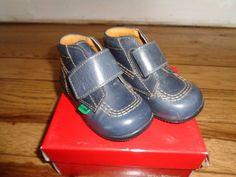 Kickers Bilou Ankle Boot in Navy Blue Leather. Style: Bilou. Rubber sole. | eBay!