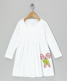 Take a look at this White Candy Cane Lane Dress - Infant & Girls by Waistin' Away on #zulily today!