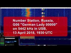 """Shortwave Number Station, Russia, G06 """"German Lady 00000"""" on 5442 kHz"""