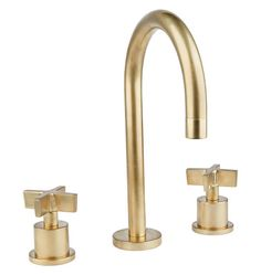 "Durable, functional, and simple in design, our West Slope collection overflows with industrial influences. features a flow rate of 1.5 gallons per minute and fits sinks with 8"" to 16"" center hole spacing. Designed in collaboration with Watermark, a plumbing mainstay of Brooklyn, NY for over 30 years, our collection of timeless solid-brass faucet and shower sets are manufactured, assembled, and finished in Watermark's Brooklyn Factory. * Solid brass * Designed for widespread (8""-16""…"