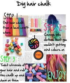 Temporarily Dye Your Hair With Regular Sidewalk Chalk