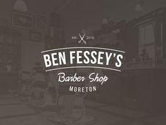 Barber Shop Branding designed by Emma Houghton. Connect with them on Dribbble; Vintage Logo Design, Vintage Designs, Retro Vintage, Barber Shop, Logo Templates, Vinyl Records, Icon Design, Design Elements, Branding Design