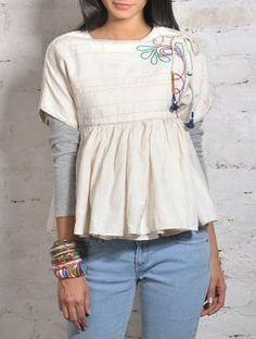Ecru Reversible Cotton Jacket