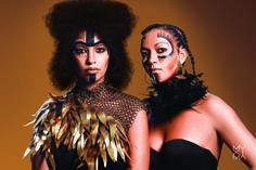 Muxima Roots © 2015 Photo by Gonçalo Claro Hair stylist: Elsa Brandão Make-up artist: Carina Quintiliano Styling: Josine Monalisa, Models: Joseline Crispim and Paty Leitão