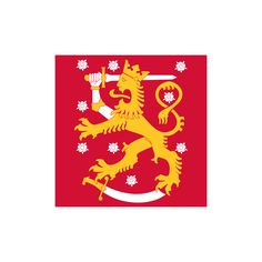Coat of arms of Finland. The coat of arms of Finland is a crowned lion on a red field, the right foreleg replaced with an armoured hand brandishing a sword, trampling on a sabre with the hindpaws. The coat of arms was originally created around the year Lappland, Robert Baden Powell, Barbados Wedding, Barbados Travel, Singapore Travel, National Animal, Banner, Sweden Travel, Family Crest