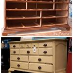 Southern Revivals: Miss Mustard Seed Yellow Dresser A Dresser Revival... Who doesn't have a dresser that looked like this one did? This girl makes me want to paint everything!