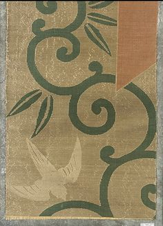 Piece  Period: Edo period (1615–1868) Date: 18th century Culture: Japan Medium: Silk / Compound weave Classification: Textiles-Woven