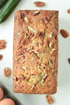 This keto zucchini bread is an easy moist almond flour low carb sweet bread with grated zucchini, walnuts, pecan and delicious autumn spice flavors. Keto Cupcakes, Keto Cookies, Cupcake Recipes, Dessert Recipes, Keto Recipes, Cookie Recipes, Keto Foods, Cupcake Ideas, Cookie Ideas