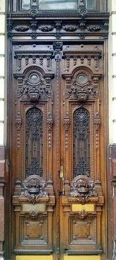 Beautiful Buenos Aires wooden doors