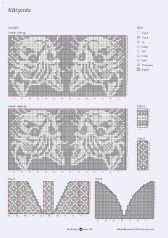 New Absolutely Free knitting charts mittens Strategies Katze, hat Filez Knitted Mittens Pattern, Intarsia Knitting, Fair Isle Knitting Patterns, Knit Mittens, Knitting Charts, Loom Knitting, Knitting Stitches, Knitting Socks, Hand Knitting