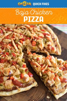 We've packed so much flavor into this Baja Chicken Pizza, it might take you a few bites before you've tasted them all. Ortega Refried Beans, Diced Green Chiles and Crispy Onion Taco Toppers make this pizza one supreme way to top off a school day.