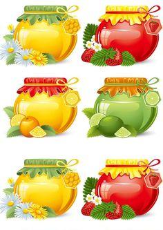 Free food jar 05 vector image in encapsulated postscript . Jar Of Jam, Fruit Jam, Food Jar, Jar Labels, Food Drawing, Decoupage Paper, Food Illustrations, Recipe Cards, Vector Art