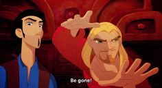 "When your ex tries to talk to you: | 20 Perfect GIFs From ""The Road To El Dorado"" You Need In Your Life"