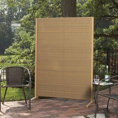 "Versare Wicker Outdoor Partition Color: Tan, Size: 72"" H x 48"" W"
