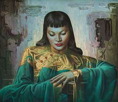 Vladimir Tretchikoff - Lady Of The Orient - Gouttelette Complete colection of art, limited editions, prints, posters and custom framing on sale now at Prints. Vintage Prints, Vintage Art, Vintage Ladies, Canvas Art Prints, Framed Prints, Kitsch Art, December, South African Artists, Art Et Illustration