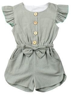 This classy romper is gorgeous as it looks! Our Luna Grau Romper is perfect for … This classy romper is gorgeous as it looks! Our Luna Grau Romper is perfect for parties, wandering and photo shoot for her! She'll have everyone staring! Baby Girl Fashion, Toddler Fashion, Fashion Kids, Fashion Clothes, Boy Clothing, Little Girl Clothing, Latest Fashion, Baby Boutique Clothing, Children Clothing