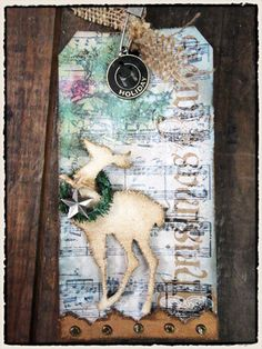 Tim Holtz- 12 tags of Christmas - Tag 2