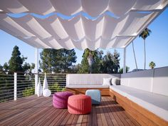 Natural Textile Canopy for Outdoor Area