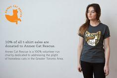 Cat Shirt Adopt Don't Shop T Shirt Unisex Charcoal by HouseOfCat