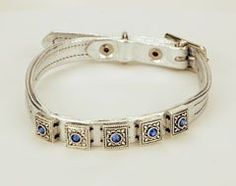 Caserta Italia Brillare Metallic Lamb Leather Dog Collar | http://www.cybermarket24.com/caserta-italia-brillare-metallic-lamb-leather-dog-collar/