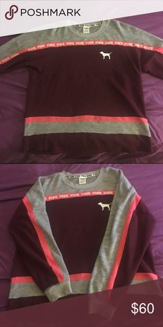 Victoria secret color block crew In perfect condition, size xs but runs large... Price is for trading, feel free to make an offer using the feature (: low ballets get declined and blocked. Thanks for looking 😊 PINK Victoria's Secret Sweaters Crew & Scoop Necks
