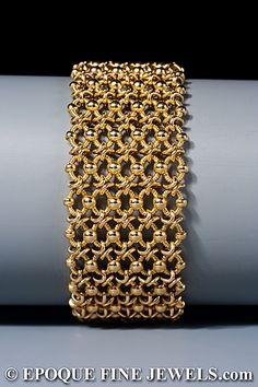 c45118fd16c3 CARTIER Un elegante pulsera de 18 quilates de oro