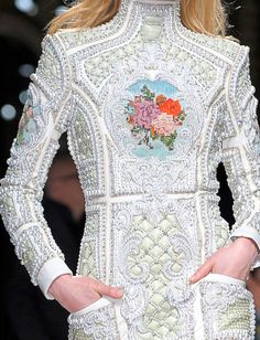 Balmain  Autumn/Winter 2012. This is a princess dress and is and always will be my dream dress to own.  It is truly a piece of artwork the detailing is incredible. //