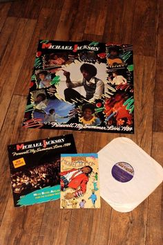 Michael Jackson Farewell My Summer Love LP Vinyl with Rare Michael Jackson comic