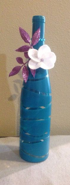 Wine bottle decor by SweetLouieOriginals on Etsy