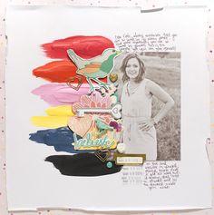 believe by kiahtamatea at studio_calico Style Scrapbook, Scrapbook Designs, Scrapbooking Ideas, Scrapbook Cards, Scrapbook Layouts, Layout Inspiration, Journal Inspiration, Journal Ideas, Studio Calico