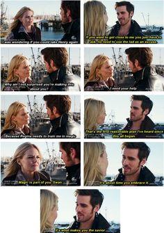 """sneak peak scene between Emma and Hook in 3.17 """"The Jolly Roger""""   ^^EEEEEKKKKKKKK!!!!!!!!!!!!!! #CAPTAIN SWAN IS ON THE RISE!!!!!!!!!!!"""
