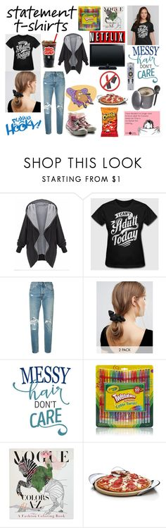 """""""Lazy Day - I Can't Be An Adult"""" by bethnjulia ❤ liked on Polyvore featuring Levi's, Johnny Loves Rosie, Penguin, Nambé, JVC and Audiovox"""