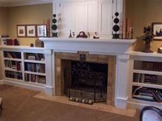 Fireplace With Bookshelves And Tv