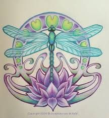17 Best Lotus Flower With Butterfly And Dragonfly Tattoo Images In