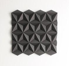 Paper Wall Decoration, Wall Decoration, Origami Wall Art, Wall Decor, Shop Display - Moduuli Square Black