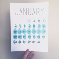 Love this! Moon phase printables.