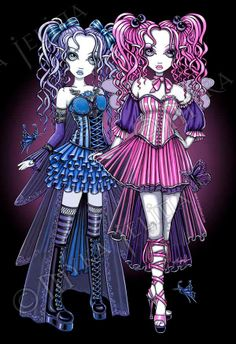 Haylee & Maegan - Cute Couture Fairy Sisters by Myka Jelina