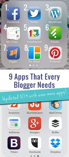 Are you a blogger who tries to manage it all on your smartphone? Here's my list of the 9 must-have apps for bloggers.