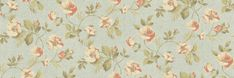 Dog Rose (68719) - Albany Wallpapers - A floral wallpaper featuring an old style rose. Shown here in blue and pink with green detailing. Other colourways are available. Please request a sample for a true colour match. Paste-the-wall product.