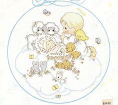 Cross Stitch Precious Moments Baby Book Pm 6 Babies Children