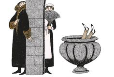 Illustration for Mystery! by Edward Gorey (American, 1925–2000).
